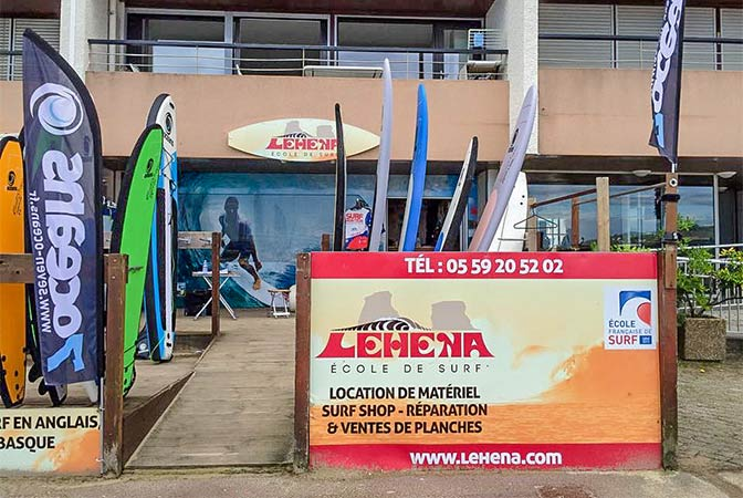 ecole de surf Hendaye