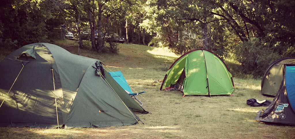 camping en groupe