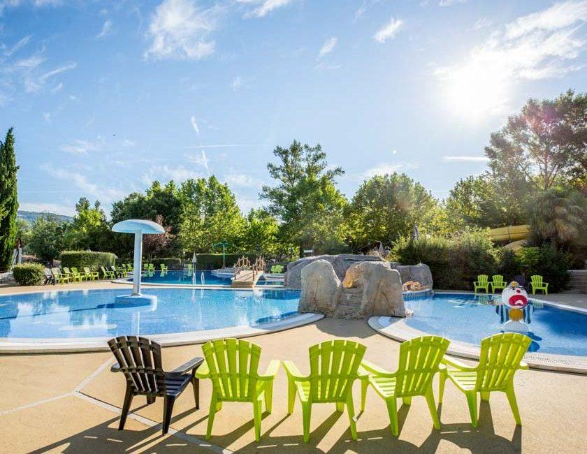 camping Ardèche piscine chauffée